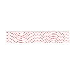 Red Circle Flano Scarf (Mini)