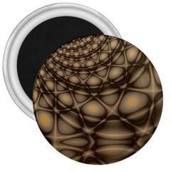 Rocks Metal Fractal Pattern 3  Magnets