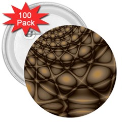 Rocks Metal Fractal Pattern 3  Buttons (100 pack)