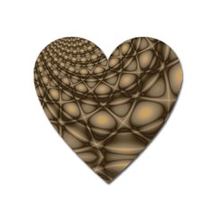 Rocks Metal Fractal Pattern Heart Magnet