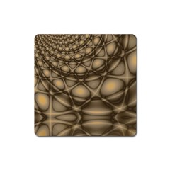 Rocks Metal Fractal Pattern Square Magnet