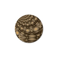 Rocks Metal Fractal Pattern Golf Ball Marker (4 pack)