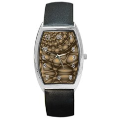 Rocks Metal Fractal Pattern Barrel Style Metal Watch