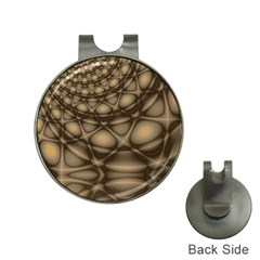 Rocks Metal Fractal Pattern Hat Clips with Golf Markers