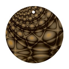 Rocks Metal Fractal Pattern Round Ornament (Two Sides)