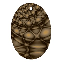 Rocks Metal Fractal Pattern Oval Ornament (Two Sides)