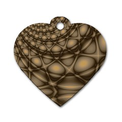 Rocks Metal Fractal Pattern Dog Tag Heart (One Side)