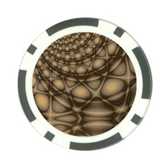 Rocks Metal Fractal Pattern Poker Chip Card Guard