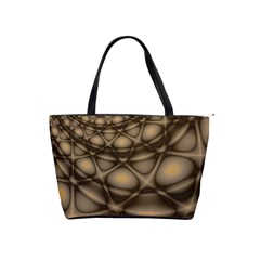 Rocks Metal Fractal Pattern Shoulder Handbags