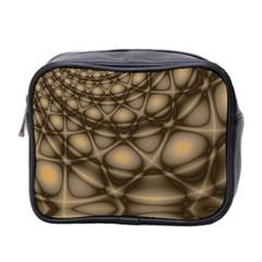 Rocks Metal Fractal Pattern Mini Toiletries Bag 2-Side