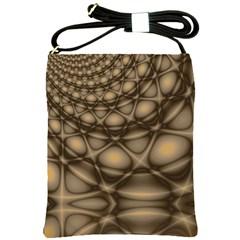 Rocks Metal Fractal Pattern Shoulder Sling Bags
