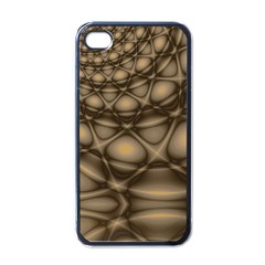 Rocks Metal Fractal Pattern Apple iPhone 4 Case (Black)
