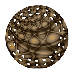 Rocks Metal Fractal Pattern Round Filigree Ornament (Two Sides)