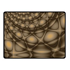 Rocks Metal Fractal Pattern Double Sided Fleece Blanket (Small)
