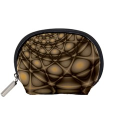 Rocks Metal Fractal Pattern Accessory Pouches (Small)