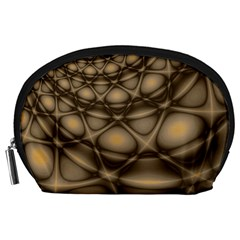 Rocks Metal Fractal Pattern Accessory Pouches (Large)