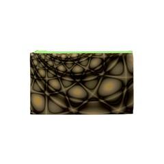 Rocks Metal Fractal Pattern Cosmetic Bag (XS)