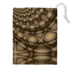 Rocks Metal Fractal Pattern Drawstring Pouches (XXL)