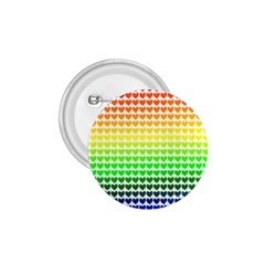 Rainbow Love Heart Valentine Orange Yellow Green Blue 1.75  Buttons