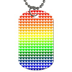 Rainbow Love Heart Valentine Orange Yellow Green Blue Dog Tag (One Side)