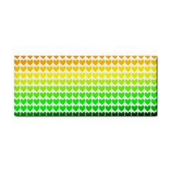 Rainbow Love Heart Valentine Orange Yellow Green Blue Cosmetic Storage Cases