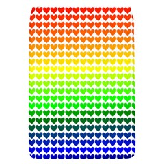 Rainbow Love Heart Valentine Orange Yellow Green Blue Flap Covers (S)