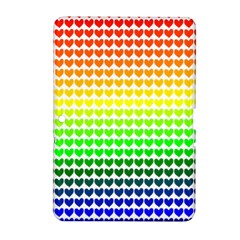 Rainbow Love Heart Valentine Orange Yellow Green Blue Samsung Galaxy Tab 2 (10.1 ) P5100 Hardshell Case