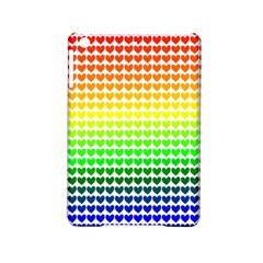Rainbow Love Heart Valentine Orange Yellow Green Blue iPad Mini 2 Hardshell Cases