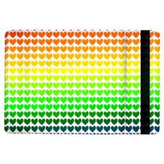 Rainbow Love Heart Valentine Orange Yellow Green Blue iPad Air Flip