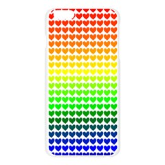 Rainbow Love Heart Valentine Orange Yellow Green Blue Apple Seamless iPhone 6 Plus/6S Plus Case (Transparent)