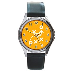 Sign Yellow Strategic Simplicity Round Times Round Metal Watch