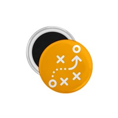 Sign Yellow Strategic Simplicity Round Times 1.75  Magnets