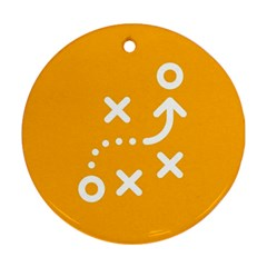 Sign Yellow Strategic Simplicity Round Times Ornament (Round)