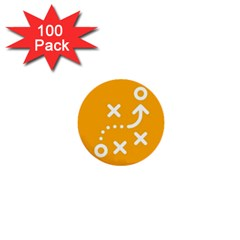 Sign Yellow Strategic Simplicity Round Times 1  Mini Buttons (100 pack)