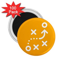 Sign Yellow Strategic Simplicity Round Times 2.25  Magnets (100 pack)