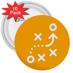 Sign Yellow Strategic Simplicity Round Times 3  Buttons (10 pack)