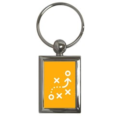 Sign Yellow Strategic Simplicity Round Times Key Chains (Rectangle)