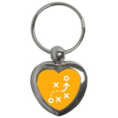 Sign Yellow Strategic Simplicity Round Times Key Chains (Heart)