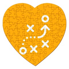 Sign Yellow Strategic Simplicity Round Times Jigsaw Puzzle (Heart)