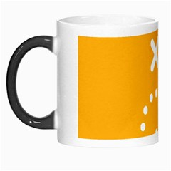 Sign Yellow Strategic Simplicity Round Times Morph Mugs