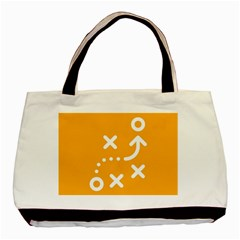 Sign Yellow Strategic Simplicity Round Times Basic Tote Bag