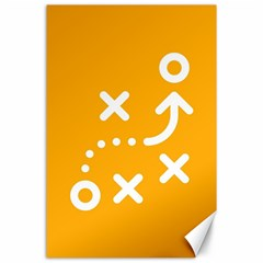 Sign Yellow Strategic Simplicity Round Times Canvas 24  x 36
