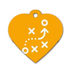 Sign Yellow Strategic Simplicity Round Times Dog Tag Heart (Two Sides)