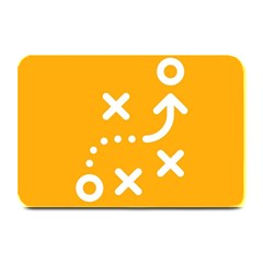 Sign Yellow Strategic Simplicity Round Times Plate Mats