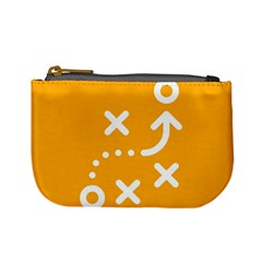 Sign Yellow Strategic Simplicity Round Times Mini Coin Purses