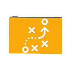 Sign Yellow Strategic Simplicity Round Times Cosmetic Bag (Large)