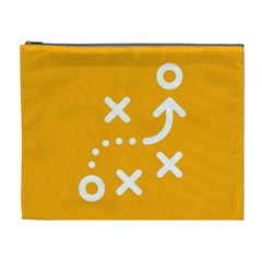 Sign Yellow Strategic Simplicity Round Times Cosmetic Bag (XL)