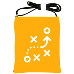 Sign Yellow Strategic Simplicity Round Times Shoulder Sling Bags