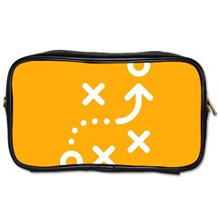 Sign Yellow Strategic Simplicity Round Times Toiletries Bags 2-Side