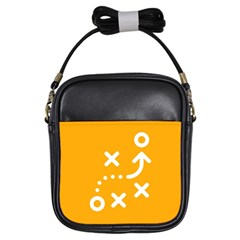 Sign Yellow Strategic Simplicity Round Times Girls Sling Bags